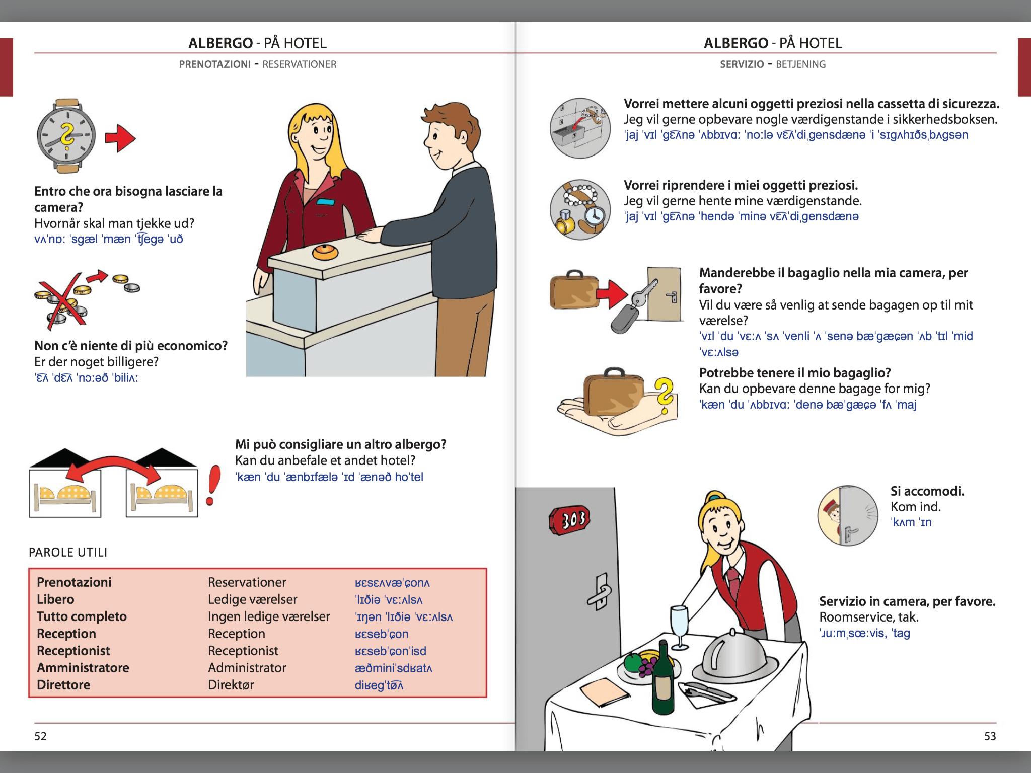 Manuale di conversazione illustrato Italiano-Danese
