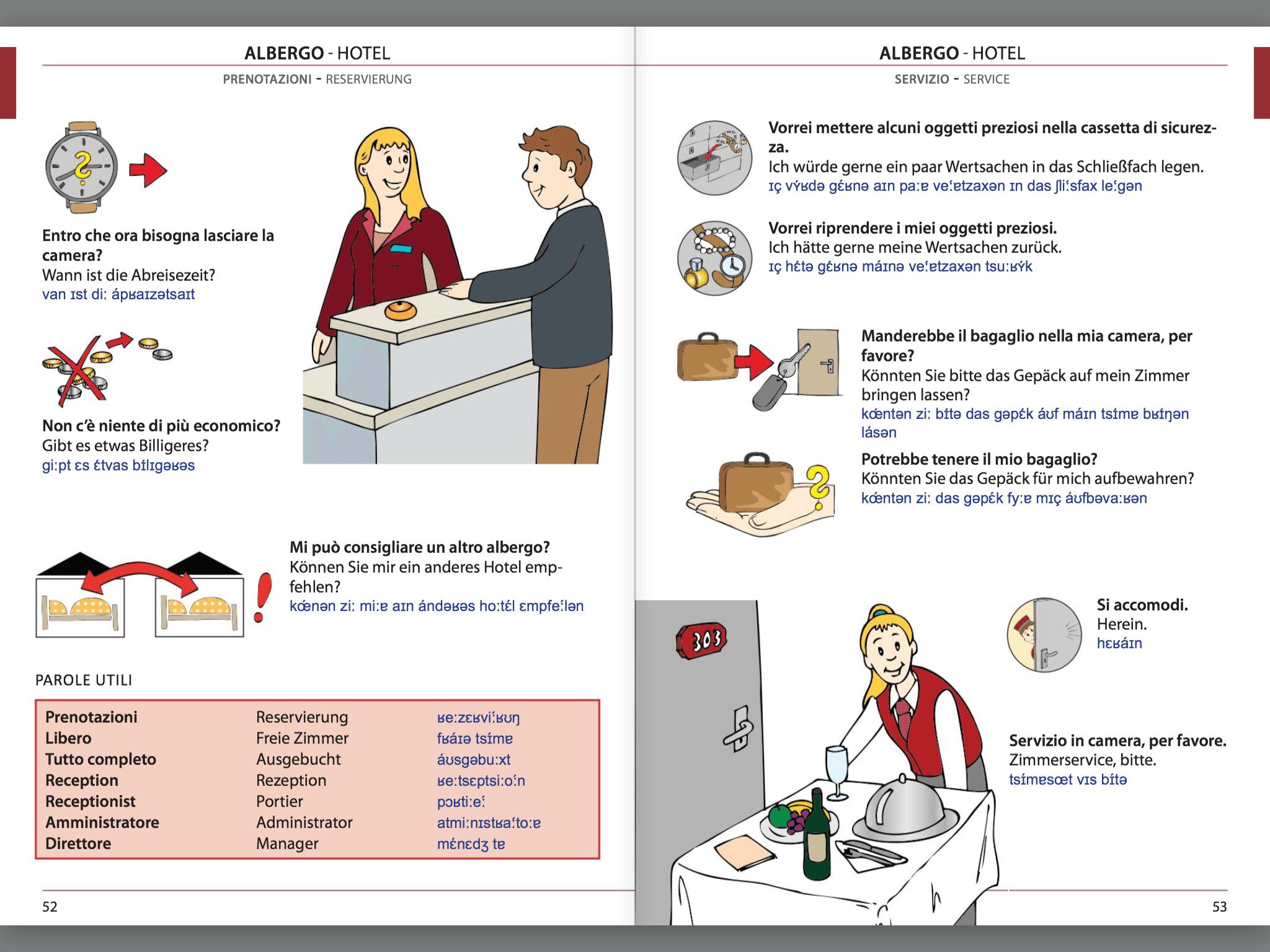 Manuale di conversazione illustrato Italiano-Tedesco