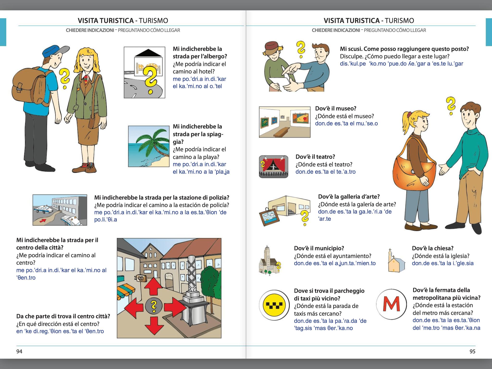 Manuale di conversazione illustrato Italiano-Spagnolo